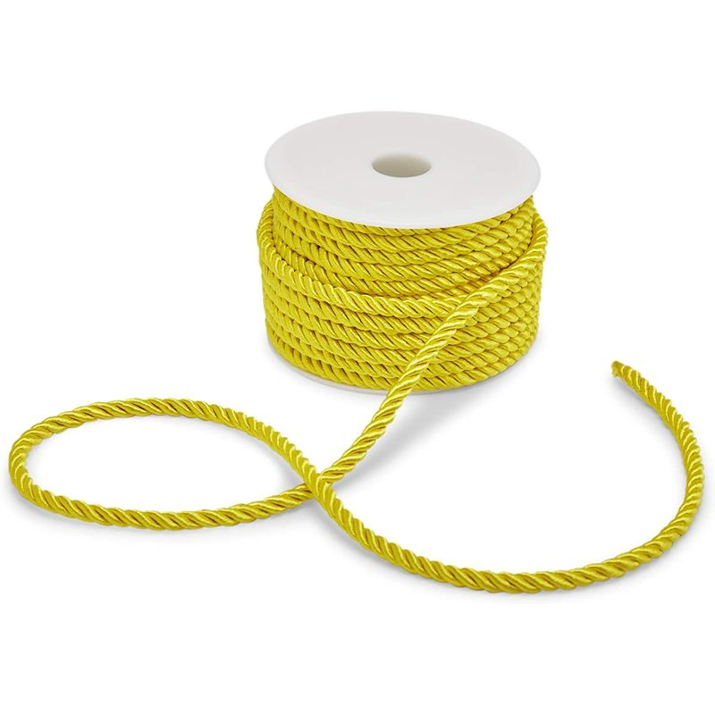 5mm Gold Macrame Cord for Craft Supplies (18 Yards, 2 Pack)