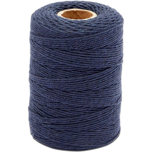 Cotton Twine String for Crafts, Dark Blue Jute Twine (2mm, 218 Yards, 656 Ft)