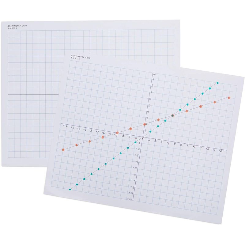 Single Sided X-Y Axis Mat, Teaching Supplies (9 x 11 in, 100 Sheets)