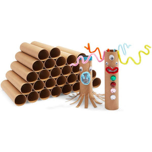 Brown Cardboard Tubes for Crafts, DIY Craft Paper Roll (1.6 x 8 in, 30 Pack)
