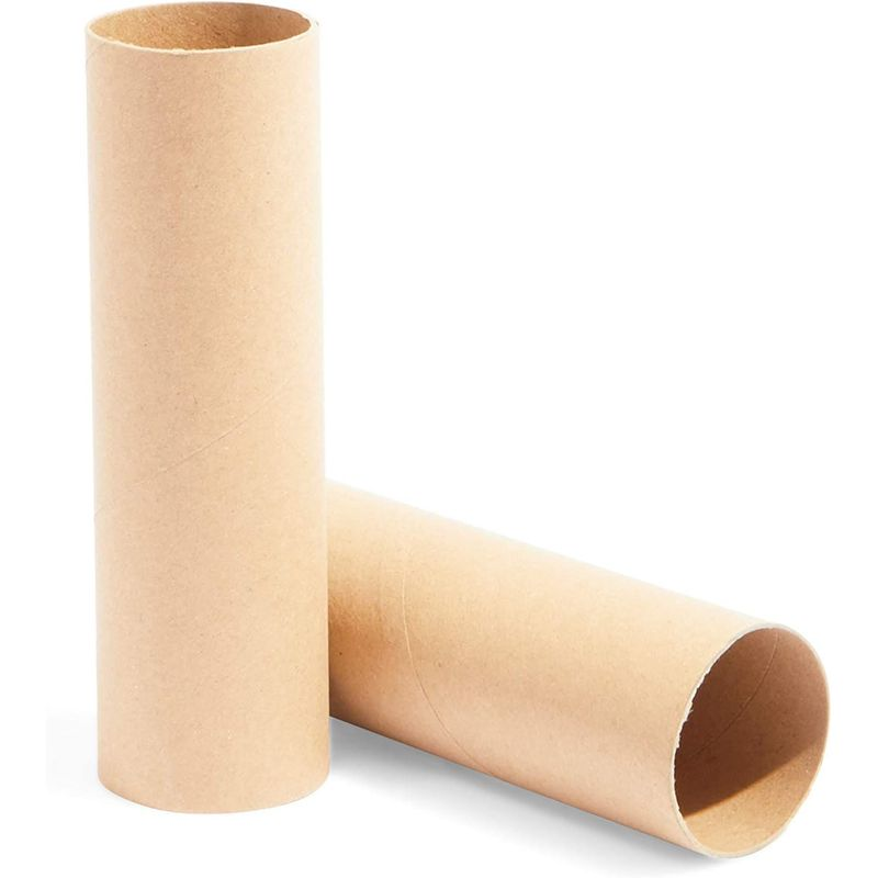 Brown Cardboard Tubes for Crafts (1.6 x 5.9 in, 36 Pack)