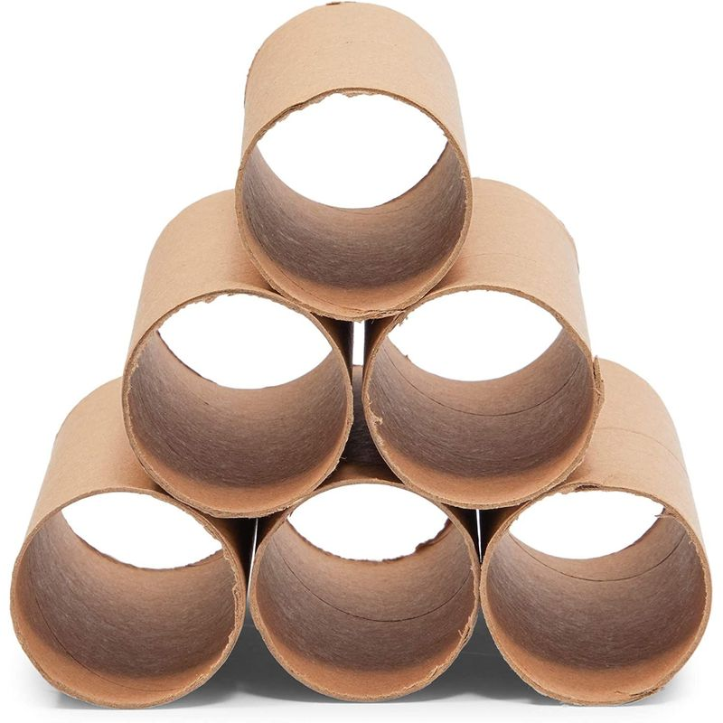 Brown Cardboard Tubes for Crafts, DIY Craft Paper Roll (1.6 x 3.9 in, 36 Pack)