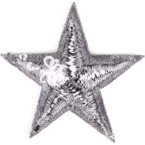 Star Embroidery Patch (Black, 50-Pack)