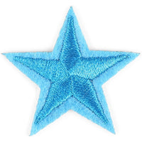 Star Embroidery Patch (Blue, 50-Pack)