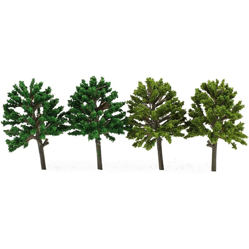 Miniature Model Trees for Dioramas, DIY Crafts (11 Sizes, 55 Pieces)