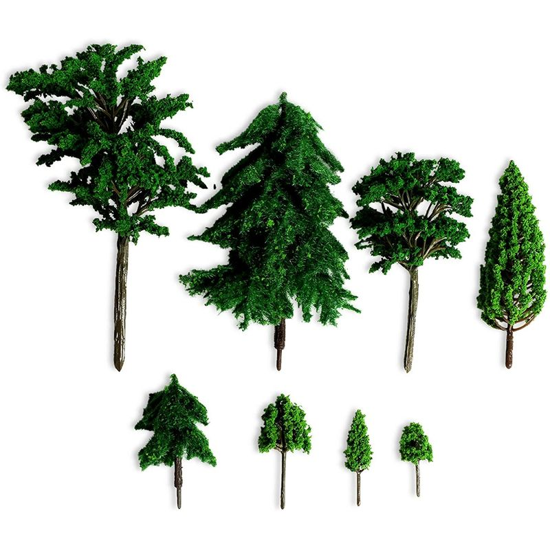 Miniature Model Trees for Dioramas, DIY Crafts (8 Sizes, 30 Pieces)