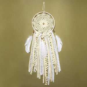 Bright Creations Dream Catcher Kit for DIY Crafts, Wall Decor and Supplies (8 x 25 in, Beige)