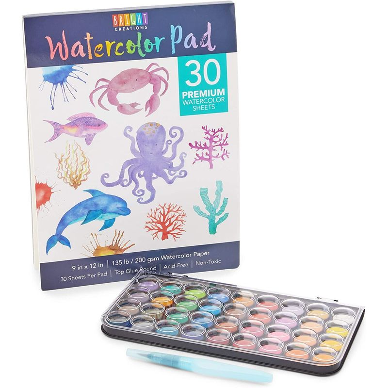 Watercolor Paint Set, Art Kit for Kids and Adults (36 Colors, 4 Pieces)