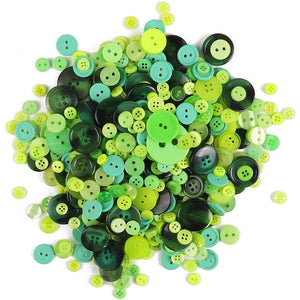 Green Buttons for Crafts Bulk, 2 and 4 Holes for Sewing Supplies (700 Pack)