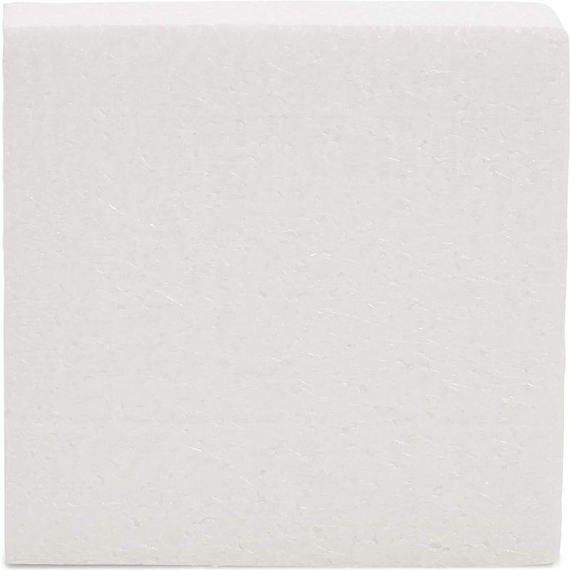 White Foam Blocks for Crafts (4 x 4 x 1 in, 40 Pack)