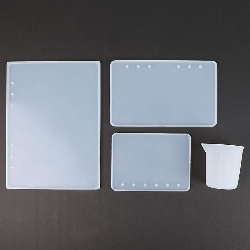 Notebook Cover Epoxy Resin Casting Mold Kit for A5, A6, A7 Covers (13 Pieces)
