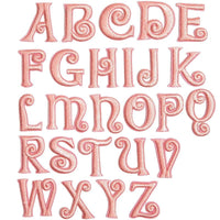 Iron On Patches, Pink Alphabet Letters for Crafts and Sewing