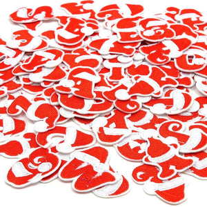 Red Iron On Patches, A-Z Christmas Letters (3 Sets, 1.5 in, 78 Pieces)