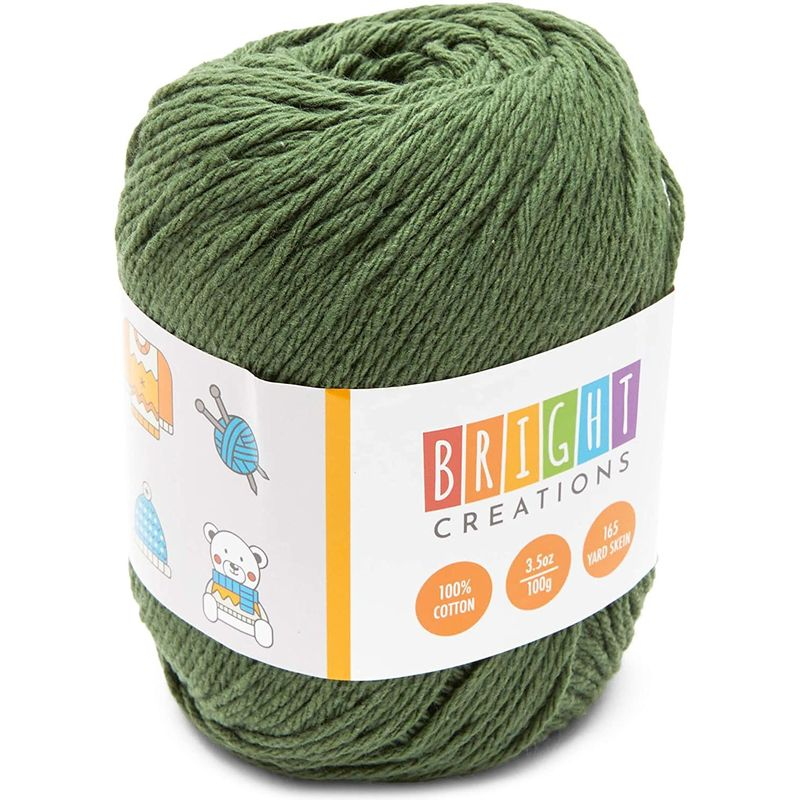 Cotton Skeins Yarn for Knitting and Crochet in 8 Colors (165