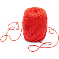 Red Cotton Skeins Yarn for Knitting, Crocheting, Crafts (165