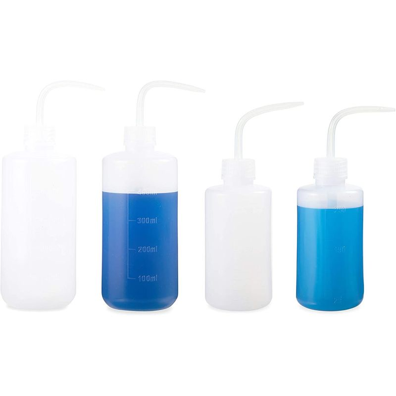 Plastic Squeeze Bottles, 8 oz and 16 oz Squirt Containers (8 Pack)
