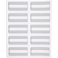 Music Stickers, Double Staff (4 x 2 in, 150-Pack)