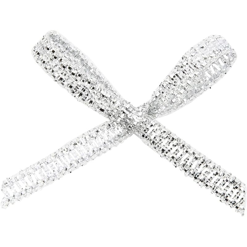 Mini Ribbon Bows for Crafts (1.2 in, Silver, 500-Pack)