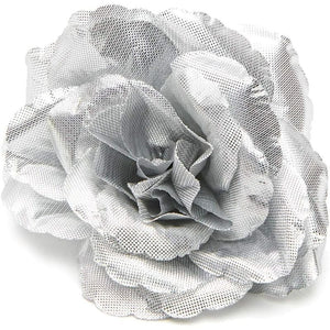 Bright Creations Rose Flower Heads, Artificial Flowers (3 in, Silver, 50-Pack)
