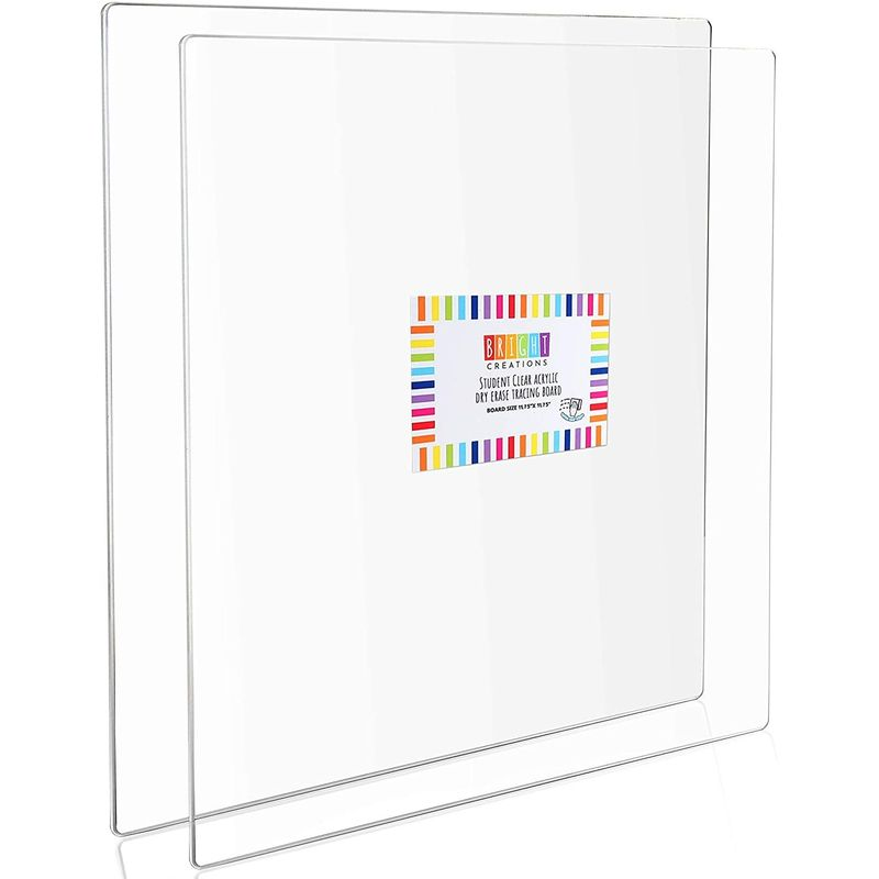 Acrylic Tracing Boards, Clear Sheets Set (12 x 12 in, 2 Pack)