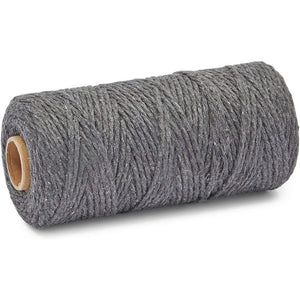 Grey Macrame Cotton Cord, Rope Craft Supplies (3mm, 164 Yards)