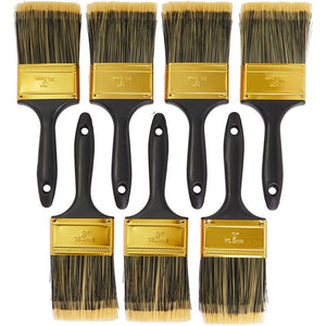 Chip Paint Brushes Set for Home Improvement, 5 Sizes (Gold, 35 Pack)