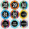 Number Stickers for the Office, Classrooms (4 Inches, 36 Pack)