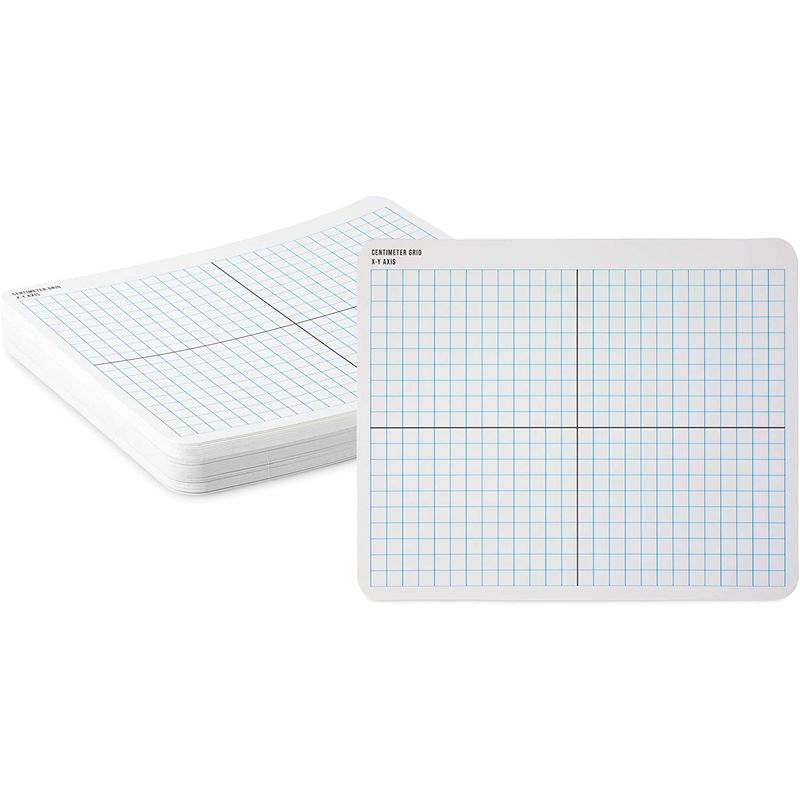 Dry Erase Boards with X-Y Axis, Teaching Supplies (11 x 9 in, 36 Pack)