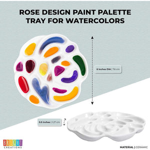 Watercolor Palette for Painting, Arts, DIY Crafts in Rose De