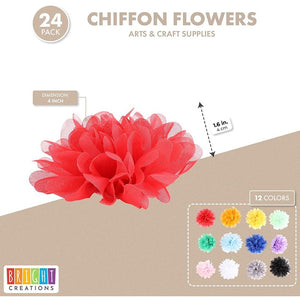 Bright Creations Chiffon Flowers, Arts and Crafts Supplies (