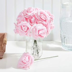 Bright Creations Rose Flower Heads, Pink Artificial Flowers