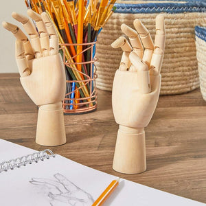 Bright Creations Posable Hand Model for Art, Left and Right Mannequin (7 Inches, 2 Pack)