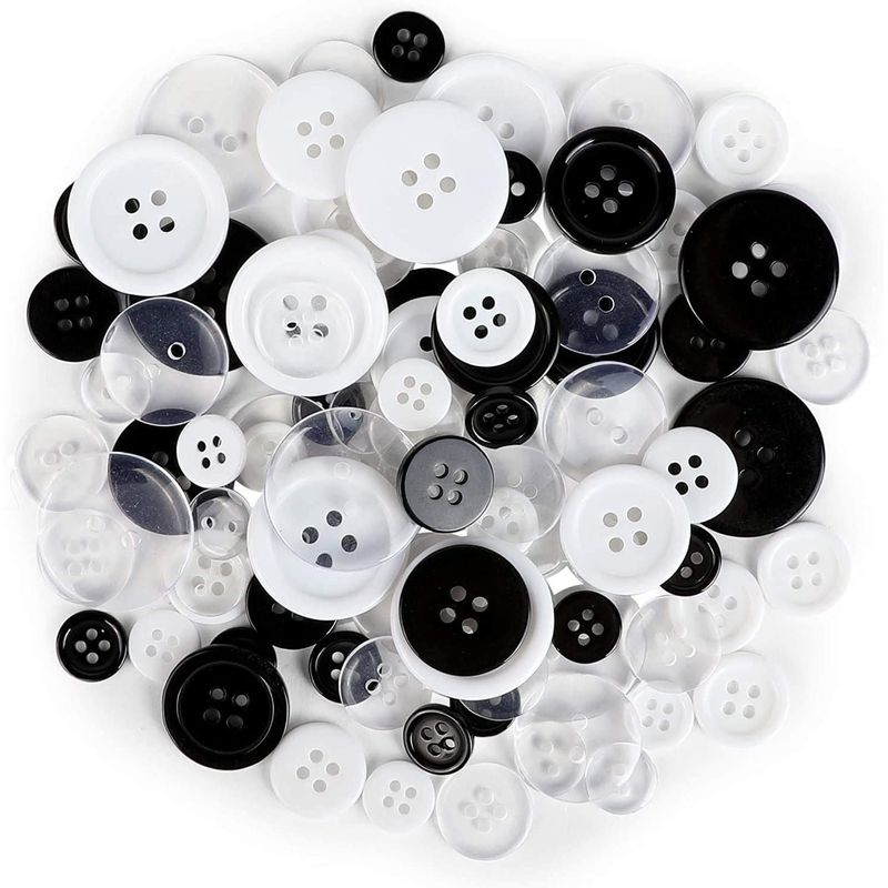 Resin Craft Buttons for Sewing Supplies, DIY Art Projects (3 Colors, 300 Pieces)