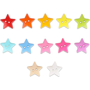 Cute Plastic Buttons with 2 Holes for Sewing, DIY Crafts (12 Colors, 500 Pieces)