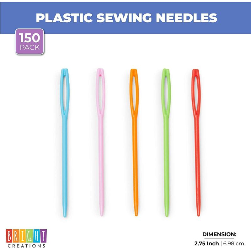 Plastic Sewing Needles (150-Pack)