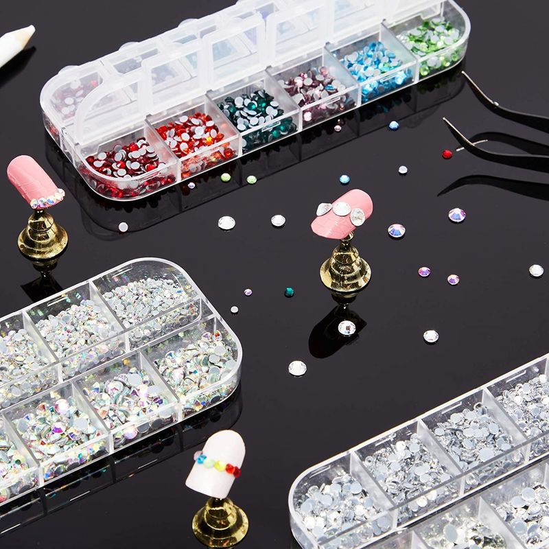 Hotfix Rhinestones Set with Dotting Pen and Tweezers for DIY Crafts (6007 Pieces)