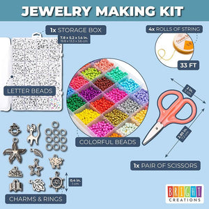 Jewelry Making Supplies, Alphabet Beads and Charms (Assorted Pieces)