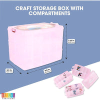 Craft Storage Box with Compartments, Bead Organizer