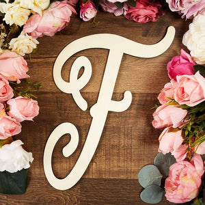 Wooden Monogram Alphabet Letters, Decorative Letter F (13 Inches)