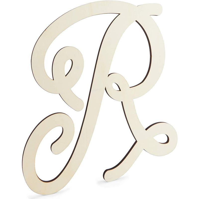 Wooden Monogram Alphabet Letters, Decorative Letter R (13 Inches)