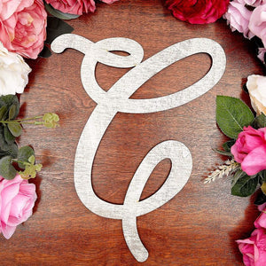 Wooden Monogram Alphabet Letters, Letter C for Crafts, Rustic Wall Decor (13 in)