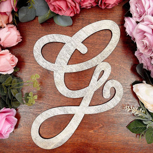 Wooden Monogram Alphabet Letters, Letter G for Crafts, Rustic Wall Decor (13 in)