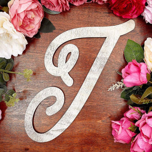 Wooden Monogram Alphabet Letters, Letter I for Crafts, Rustic Wall Decor (13 in)