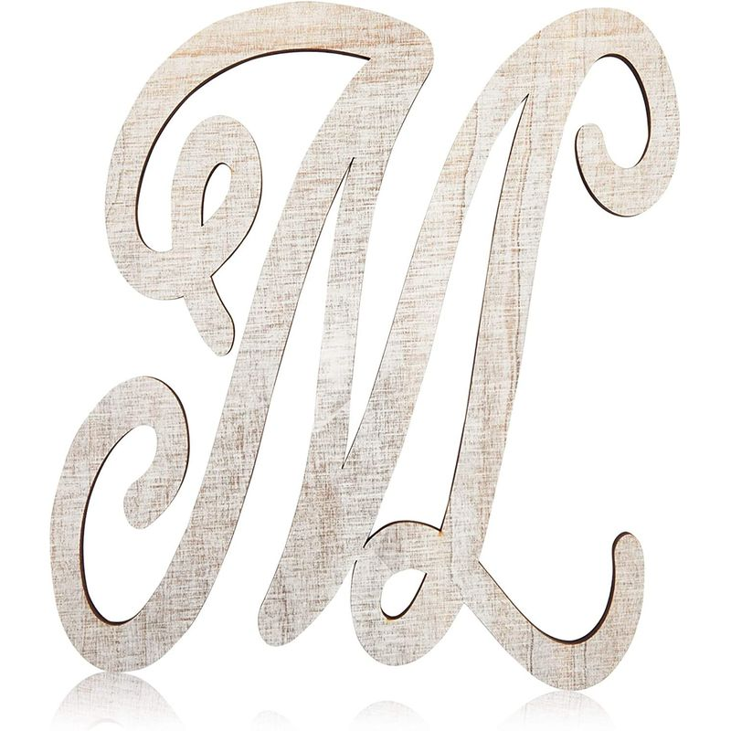 Rustic Wood Monogram Alphabet, Letter M for Crafts, Rustic Home Decor (13 in)