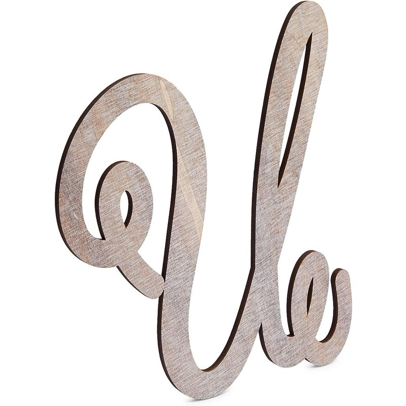 Wooden Monogram Alphabet Letters, Letter U for Crafts, Rustic Home Decor (13 in)