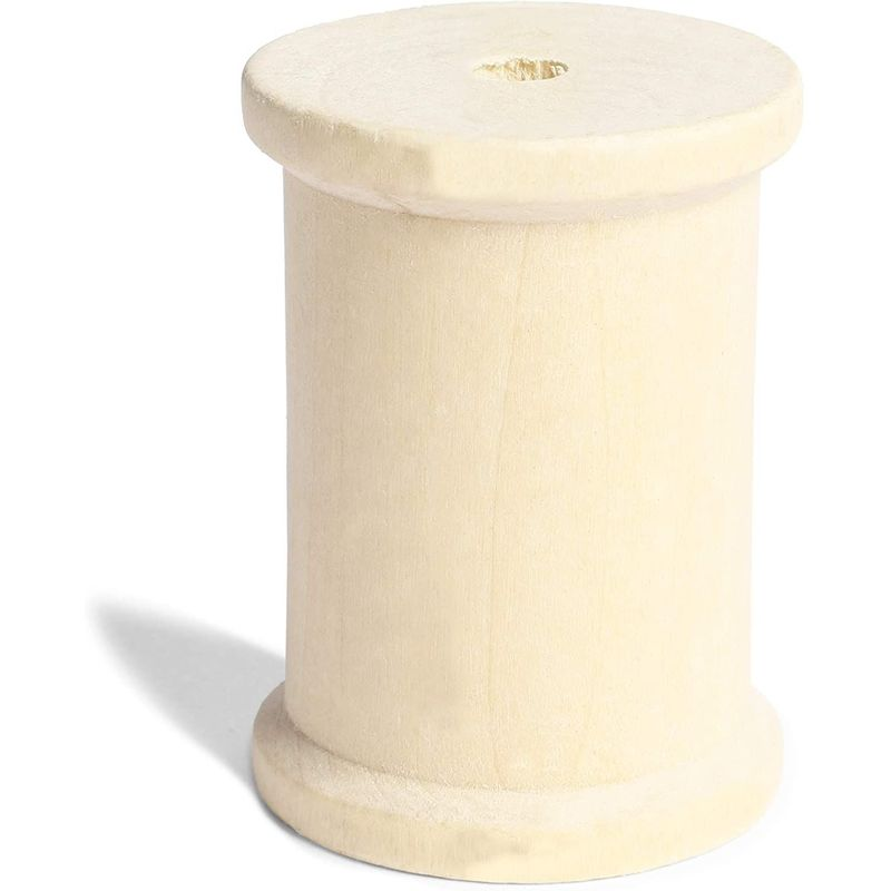Large Unfinished Wooden Spools for Crafts (1.5 x 2 Inches, 4