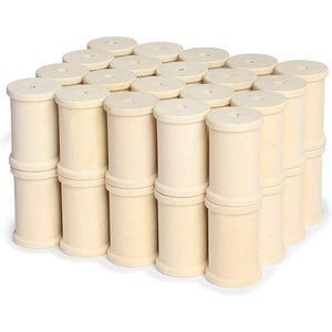 Large Unfinished Wooden Spools for Crafts (1-3/8 x 1.5 in, 40 Pack)