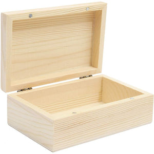 Bright Creations Unfinished Wood Box with Hinged Lid (5.5 x