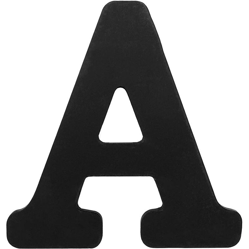 Rustic Wooden Alphabet Letters (6 in, Black, 26-Pack)