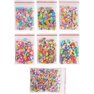 Foam Beads for Slime and Fruit Polymer Slices, Pastel (24 Pack, 90,000 Pieces)